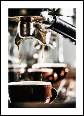 Freshly Brewed Espresso Poster