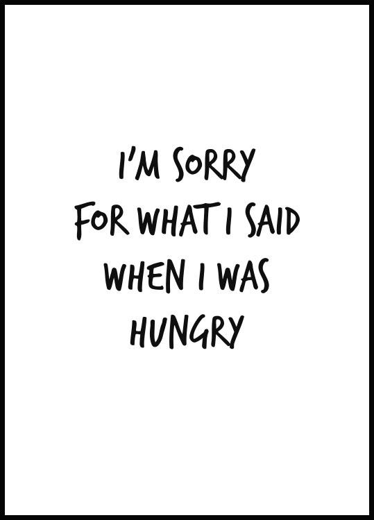 I was Hungry Poster